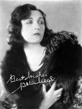 Pola Negri on a Gown with Signature