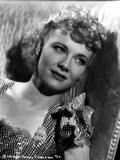 Penny Singleton Leaning wearing Checkered Blouse Close Up Portrait