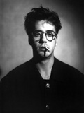 Robert Downey in Black Suit With Cigarette