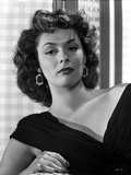Ruth Roman Curly Hair in Black Gown