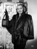 Patricia Neal on a Furry Coat