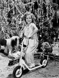 Shirley Temple Playing Scooter Classic Portrait