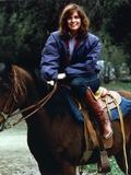 Linda Gray Riding Horse in Violet Jacket