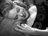 Portrait of Audrey Totter Lying in Black Top
