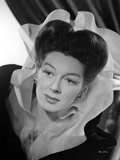 Rosalind Russell Posed in Dress