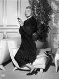 Patricia Neal on a Dress and One Leg Kneeling