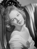Susan Hayward wearing a Dress with Brooch