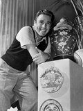 Peter Lawford Leaning in Classic