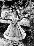 Shirley Temple Posed in Cap