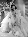 Mary Martin on a Lace and Embroidered Gown Portrait