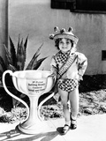 Shirley Temple Posed in Cute Hat