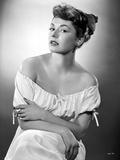 Ruth Roman in White Dress Portrait