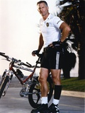 Rick Rossovich Posed With Mountain Bike