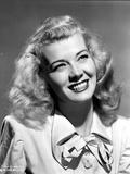 Penny Singleton smiling in Ribbon Dress Close Up Portrait