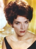 Polly Bergen Close Up Portrait in Violet Dress