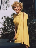 Penny Singleton posed Side View in Yellow Dress Portrait