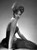 Shelley Winters Portrait in Black Silk Dress