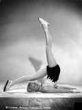Penny Singleton wearing Sexy Sportswear Yoga posed