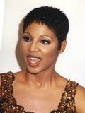 Toni Braxton Close Up Portrait wearing Brown Tank Top