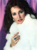 Susan Lucci Pose in White Furry Coat