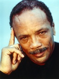 Quincy Jones Thinking Pose in Close Up Portrait