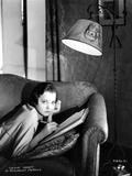 Sylvia Sidney Lying on Couch While Writing