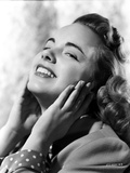 Terry Moore Hands on Face and smiling Portrait