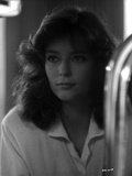 Rachel Ward Looking Away in Black and White Close Up Portrait