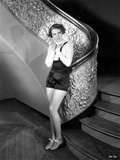 Ruby Keeler posed and Leaning