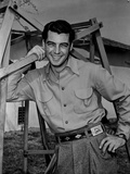 Rory Calhoun smiling in Classic Portrait