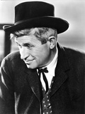 Will Rogers Looking Away in Black Suit with Hat
