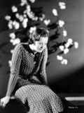 Sylvia Sidney in Printed Dress