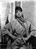 Suzanne Pleshette wearing a Trench Coat and Hands on Waist