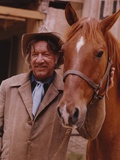 Richard Boone Posed with Horse