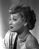 Lucille Ball Posed Side View in Close Up Portrait