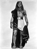 Yul Brynner standing Egyptian Dress in White Background