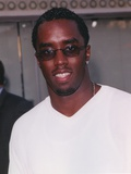 Sean Combs Posed in White Shirt