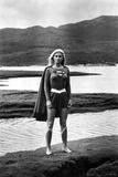 Helen Slater Posed in Super Woman Costume