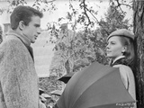 Splendor In The Grass Cast Members Couple Talking Scene Excerpt from Film in Black and White
