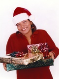Queen Latifa with Christmas Gifts