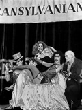 Rocky Horror Picture Show Cross Dressing Man Lounging on Chair