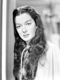 Rosalind Russell Leaning Head on Door Frame