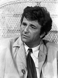 Peter Falk Looking Somewhere in Black and White
