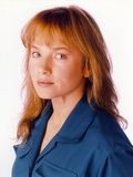 Rebecca Demornay Whit Background Close Up Portrait