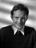 Trevor Howard Portrait in Black Suit With White Background