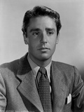 Peter Lawford Posed in Formal Suit Black and White Portrait