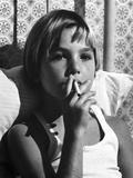 Tatum O'Neal Puffing Cigarette in Classic