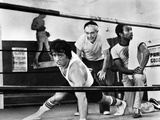 Sylvester Stallone Working out in a Classic Movie Scene