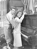 Splendor In The Grass Couple Playing Piano Scene Excerpt from Film in Black and White