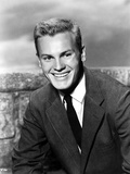Tab Hunter Posed in Jumper Suit